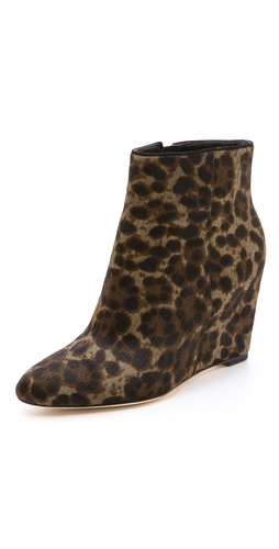 B Brian Atwood Bellaria Wedge Haircalf Booties at Shopbop / East Dane