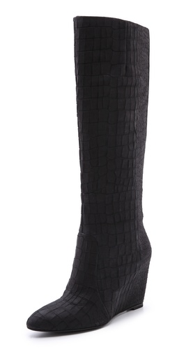 B Brian Atwood Bomand Croco Wedge Boots at Shopbop / East Dane