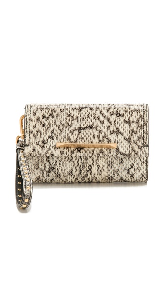 B Brian Atwood Wristlet with Interior Mirror
