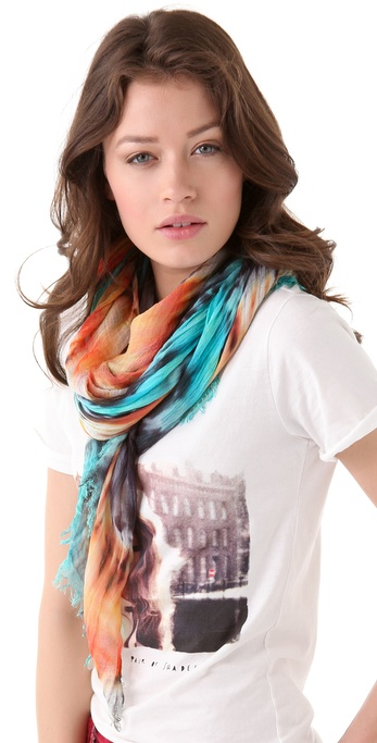 Brightly Twisted Scarves Tie Dye Scarf