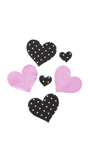 Bristols 6 Pretty in Pink Heart Nippies
