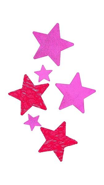 Bristols 6 Love Lace Star Nippies
