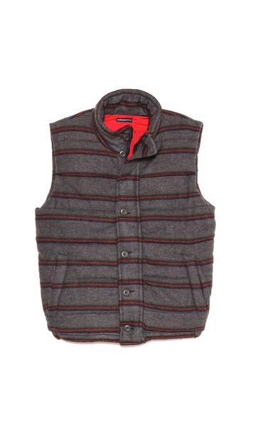 Burkman Bros. Horizontal Stripe Flannel Vest
