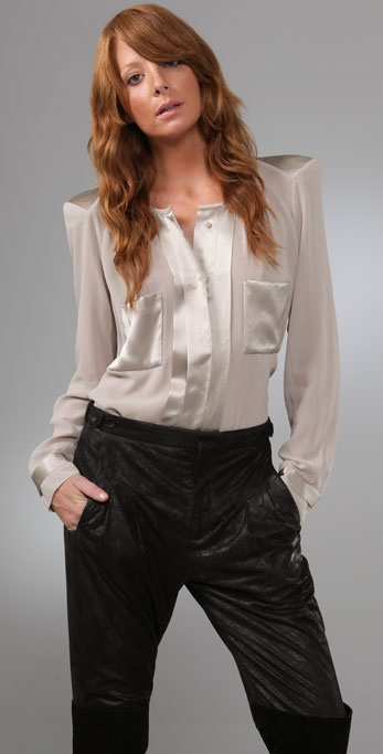 By Malene Birger Liton Blouse with Shoulder Pads