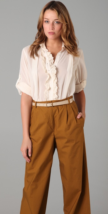 By Malene Birger Jace Blouse with Eyelet Trim