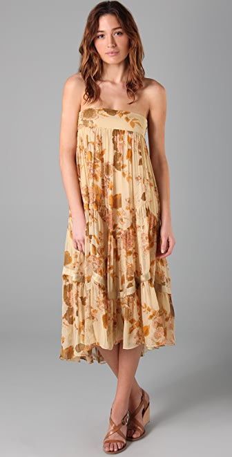 By Malene Birger Sillae Floral Strapless Dress
