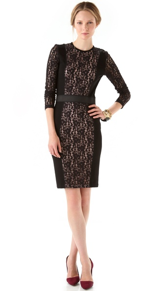 By Malene Birger Olisio Lace Panel Dress