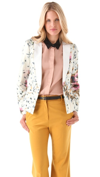 By Malene Birger Salisca Floral Blazer