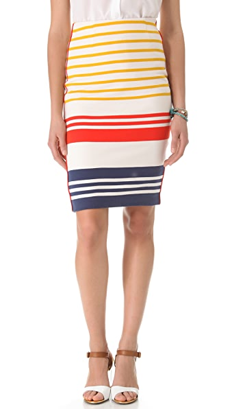 By Malene Birger Mellex Wide Stripe Pencil Skirt