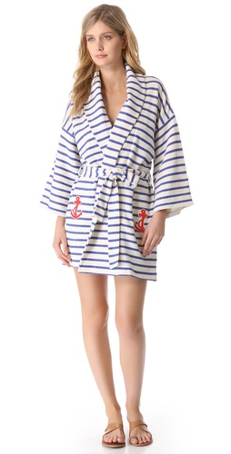 By Malene Birger Riviera Stripe Cover Up Robe