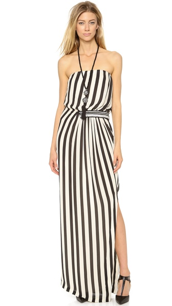 By Malene Birger Artie Strapless Stripe Maxi Dress