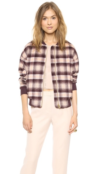 By Malene Birger Cuzia Plaid Bomber