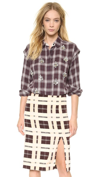 By Malene Birger Alfredah Embellished Button Down