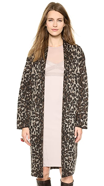 By Malene Birger Cameliu Long Leopard Cardigan