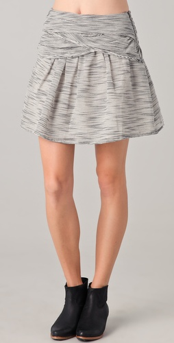 By Zoe Rosy Draped Skirt