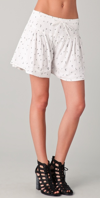 By Zoe Picabia Ruffle Shorts