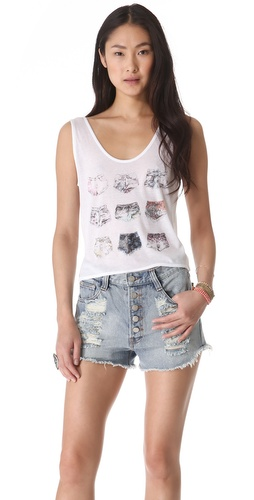 By Zoe Andou Cropped Tank
