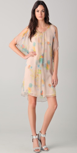 Cacharel Nude Print Dress