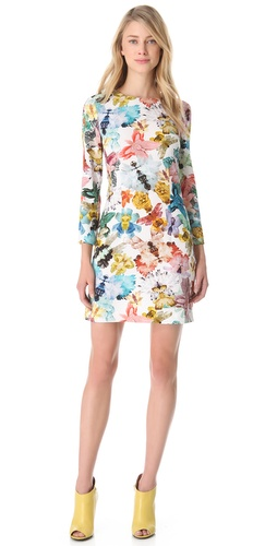 Cacharel Long Sleeve Floral Dress