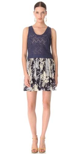 Cacharel Lace & Silk Dress