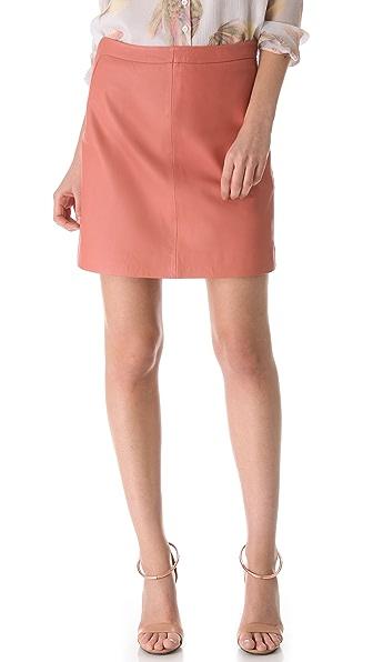 Cacharel Leather Skirt