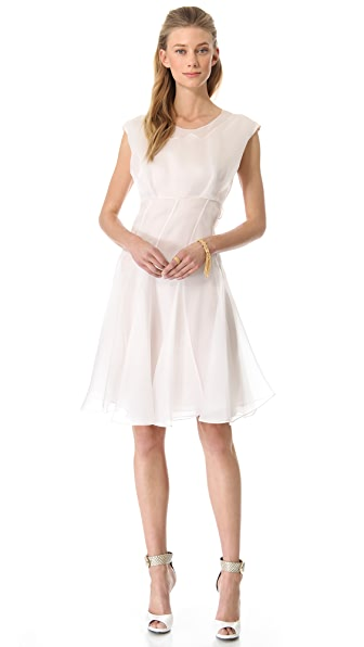 Cacharel Short Sleeve Organza Dress