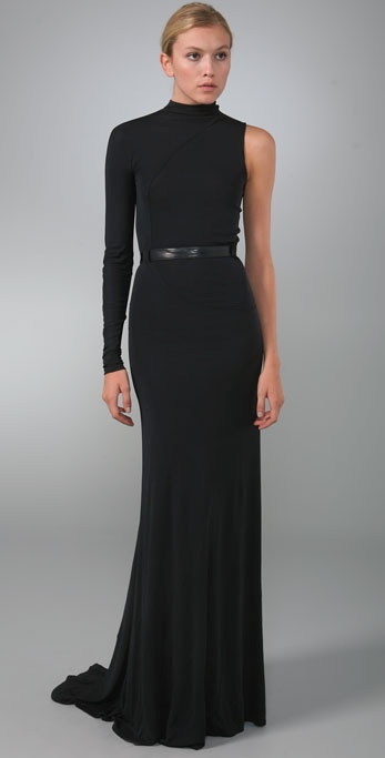 Calvin Klein Collection Rainier Dress with Leather Belt