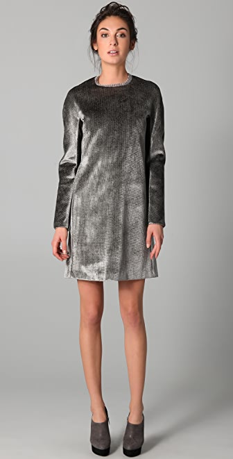 Calvin Klein Collection Improta Velvet Dress