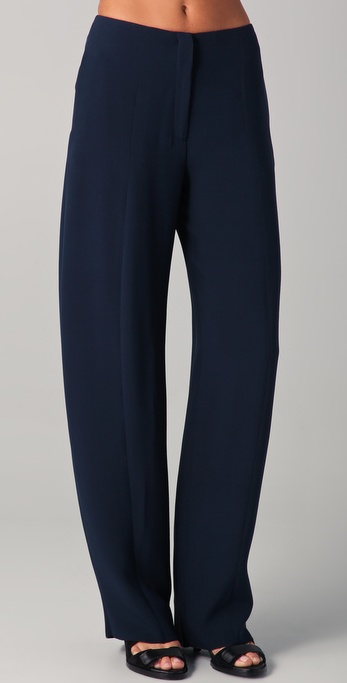 Calvin Klein Collection Jeoffrey Silk Pants