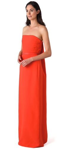 Calvin Klein Collection Oksana Strapless Gown