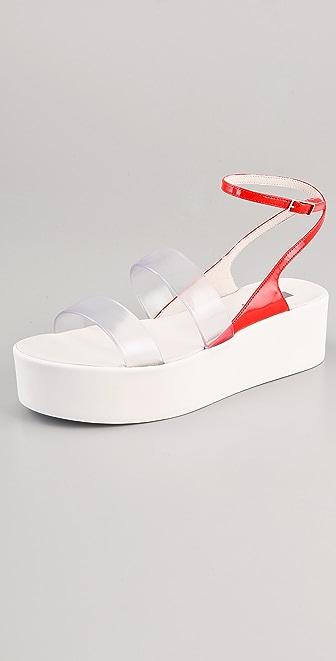 Calvin Klein Collection Kate Vinyl Platform Sandals