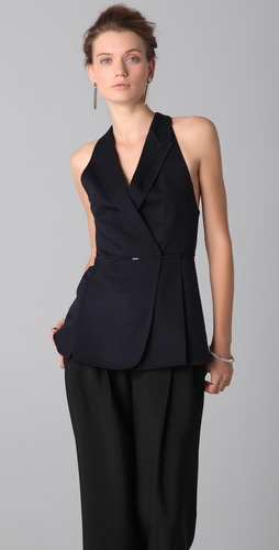 Calvin Klein Collection Jiggets Peak Lapel Vest