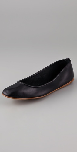 Calvin Klein Collection Cameron Leather Flats