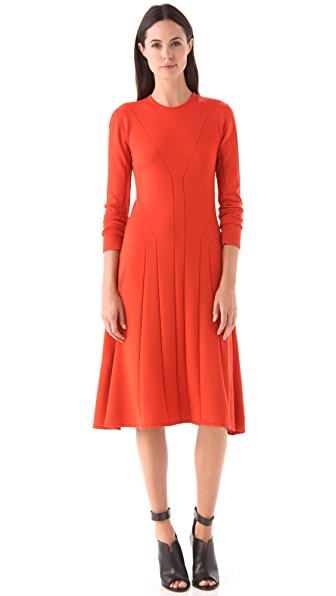 Calvin Klein Collection Seamed Jersey Dress