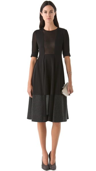 Calvin Klein Collection Sheer Panel Dress
