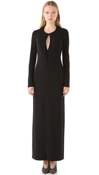 Calvin Klein Collection Long Sleeve Jersey Gown