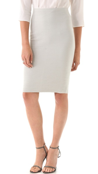 Calvin Klein Collection Textured Knit Pencil Skirt