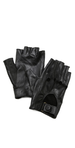 Carolina Amato Fingerless Moto Gloves at Shopbop / East Dane
