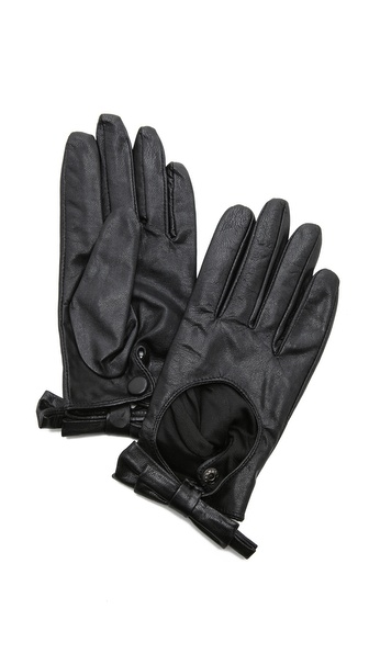 Carolina Amato Bow Moto Gloves - Black