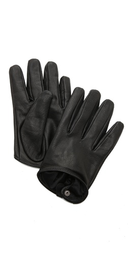 Carolina Amato Short Leather Gloves at Shopbop / East Dane