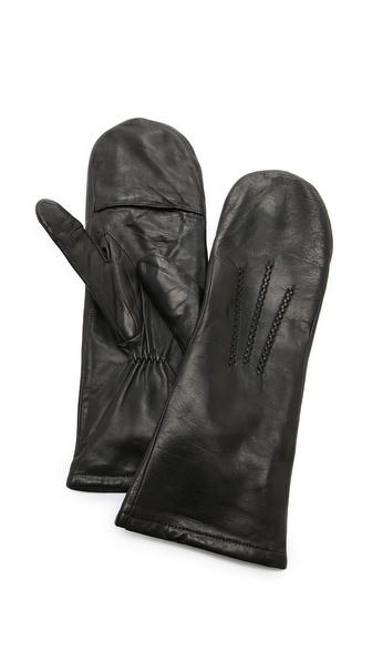 Carolina Amato Leather Mittens