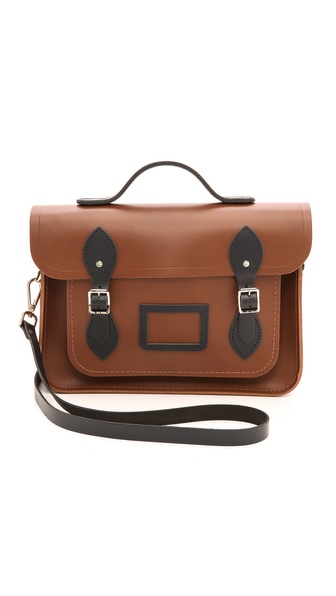 Cambridge Satchel 13'' Two Tone Satchel with Top Handle