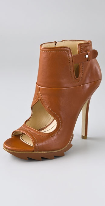 Camilla Skovgaard Heart Cutout Ankle Booties on Lug Sole