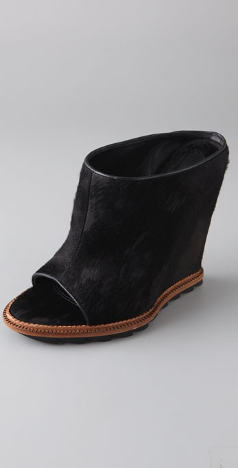 Camilla Skovgaard Haircalf Slide Wedges on Lug Sole