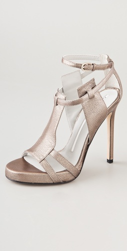 Camilla Skovgaard Metallic Platform Sandals