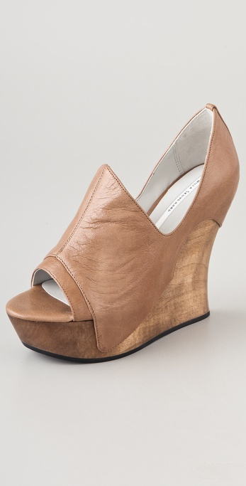 Camilla Skovgaard Open Toe Dip Side Wedge Booties