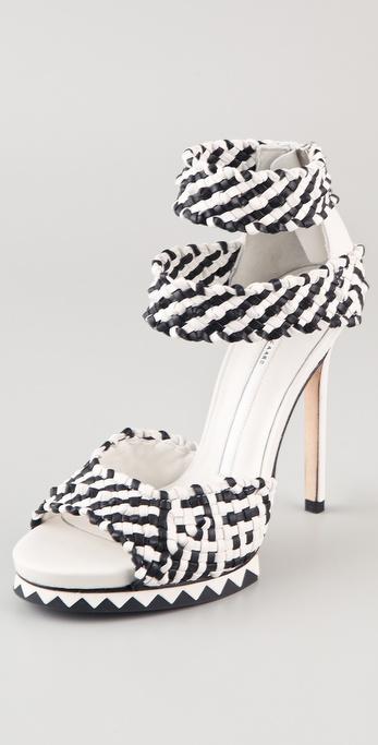 Camilla Skovgaard Woven Two Tone High Heel Sandals