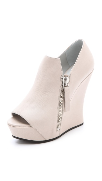 Camilla Skovgaard Peep Toe Wedge Booties