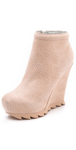 Camilla Skovgaard Suede Wedge Booties on Saw Sole