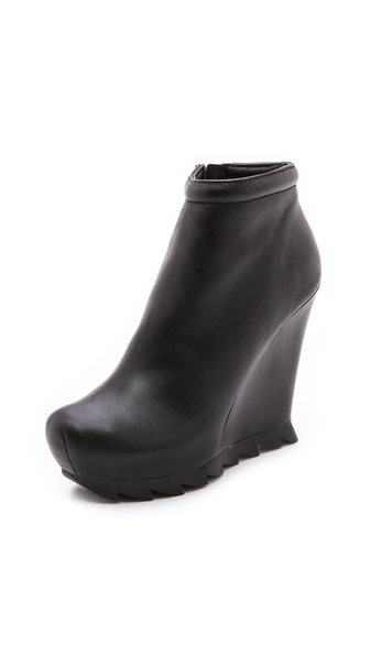Camilla Skovgaard Ankle Wedge Booties with Saw Sole